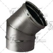 Отвод 45º без изоляции D300 (Вулкан)